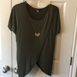 Military style blouse